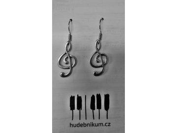 Náušnice houslové klíče 2 - kov