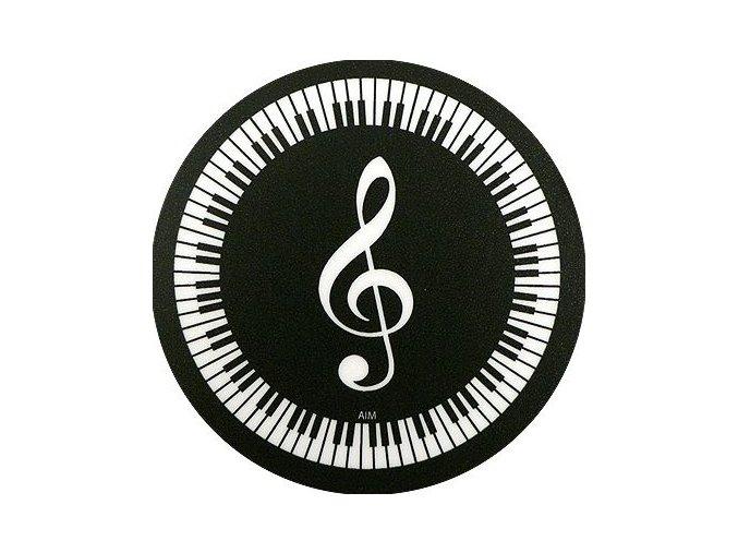 podložka pod hrnek klaviatura houslový klíč