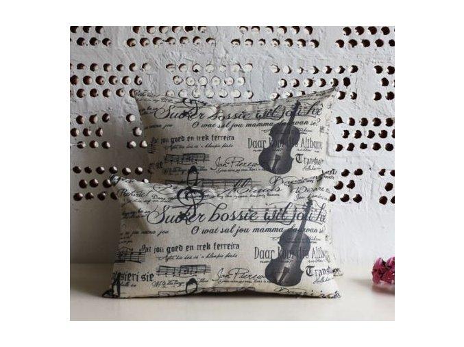 dekorativní povlak hudba, housle, partitura, nota