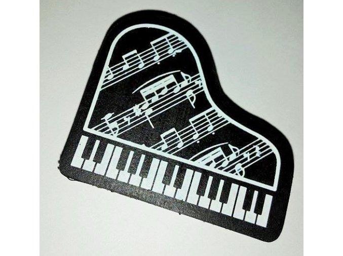 Guma - klavír s partiturou - černá