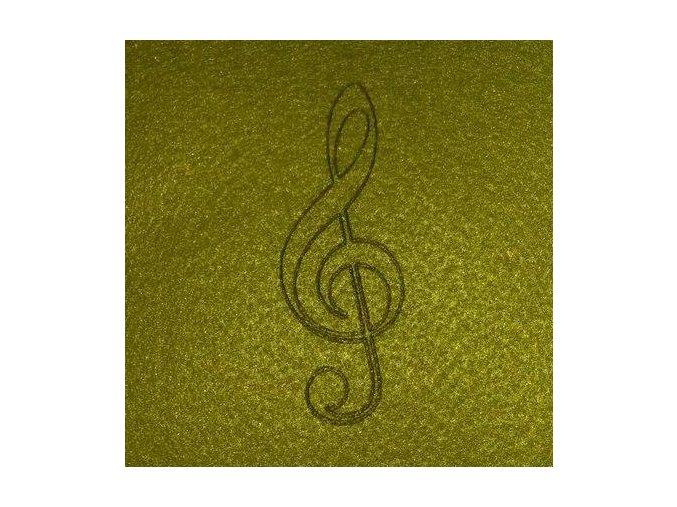 Podložka pod hrnek - houslový klíč
