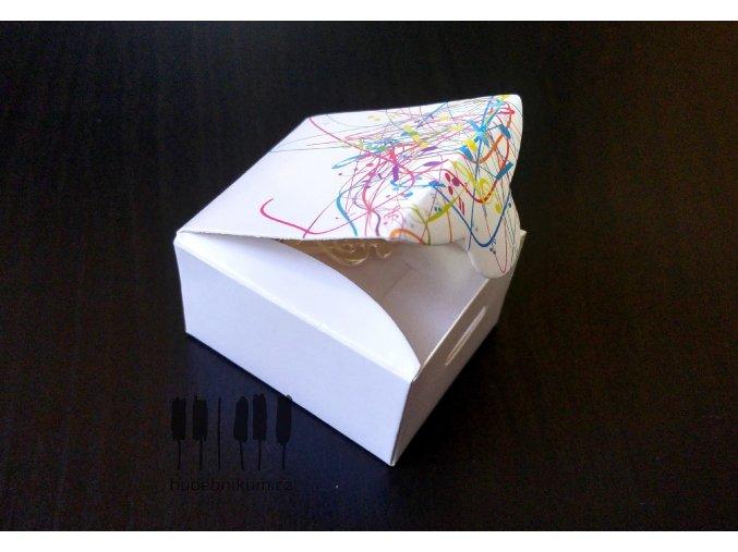 Dárková krabička s barevnými notami MAGICO - M