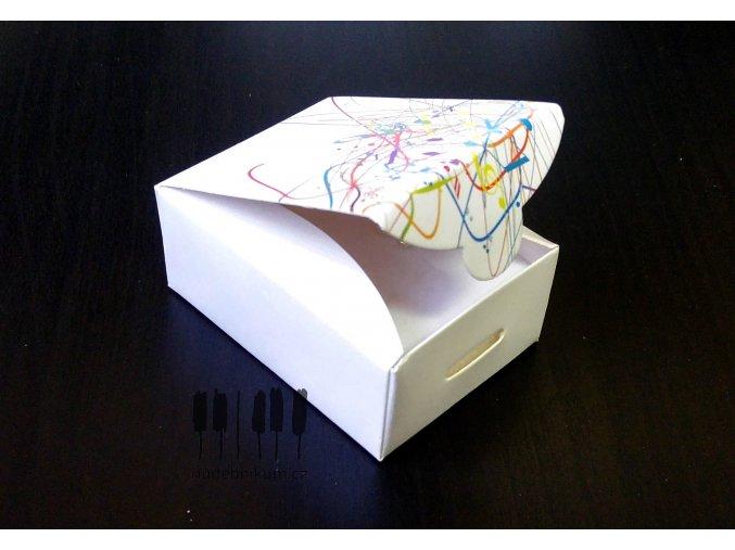 Dárková krabička s barevnými notami MAGICO - L