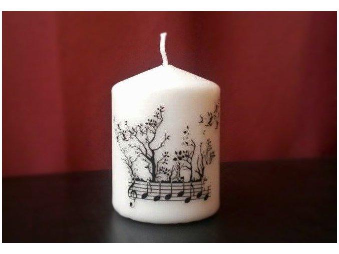 Svíčka se stromovou partiturou malá