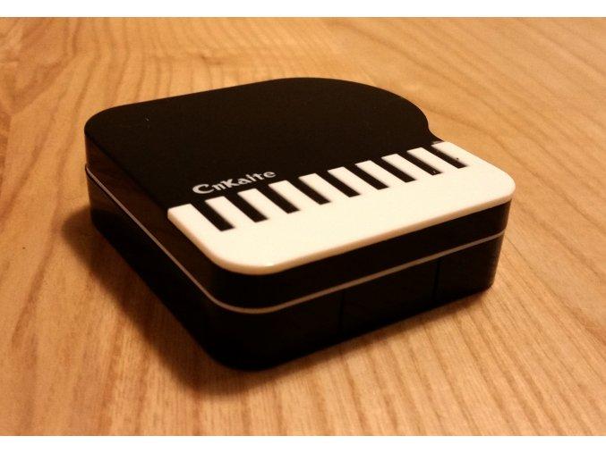 Pouzdro na kontaktní čočky klavír - černé