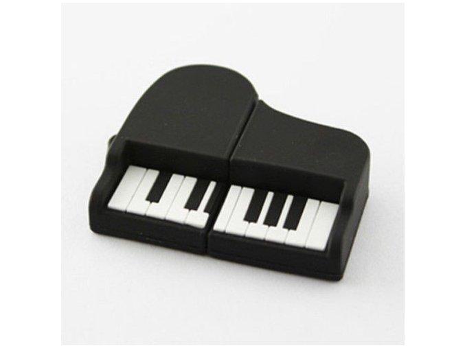 USB Flash disk 8 GB klavír černý