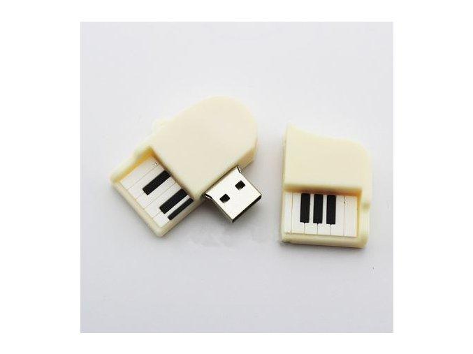 USB Flash disk 8 GB klavír bílý