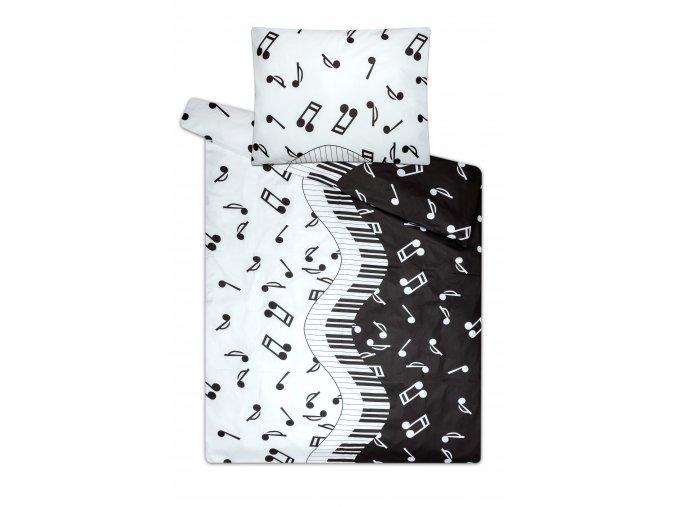 povlečení s notami piano