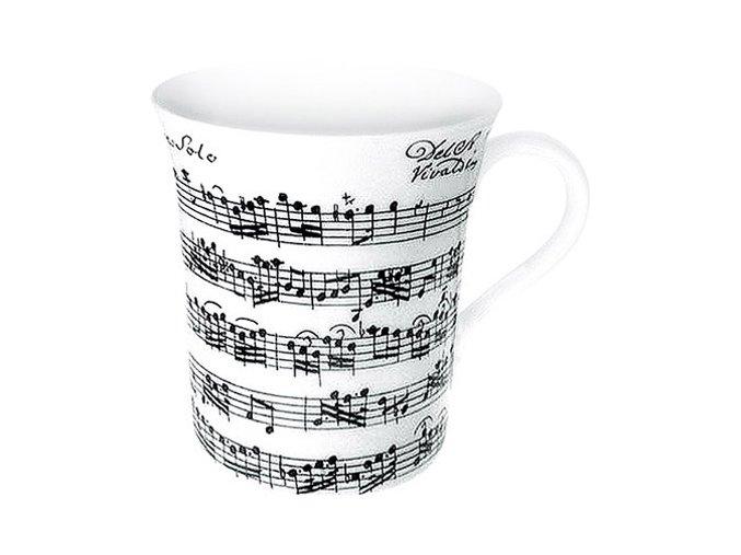 Hrnek s partiturou Vivaldi - velký bílý