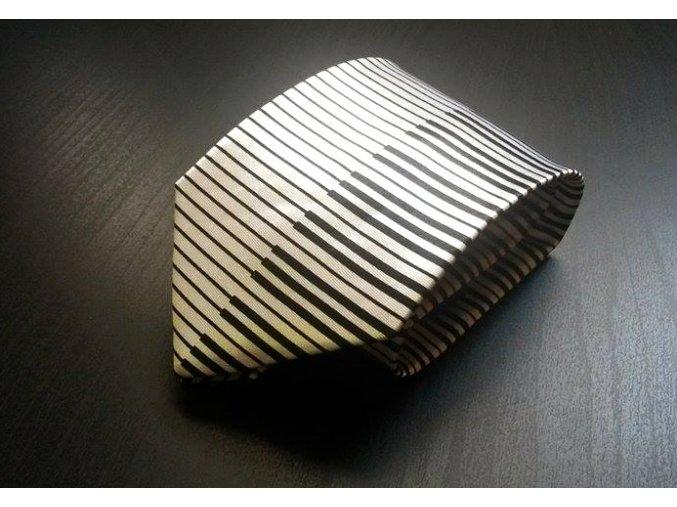 Kravata klaviaturou bílá široká