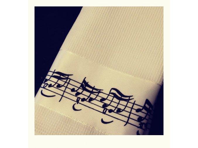 Ručník s partiturou