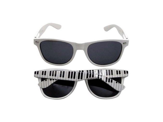 Sluneční brýle bílé s klaviaturou