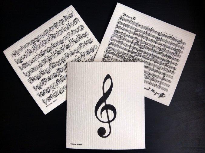 Houbová utěrka - partitura Bach