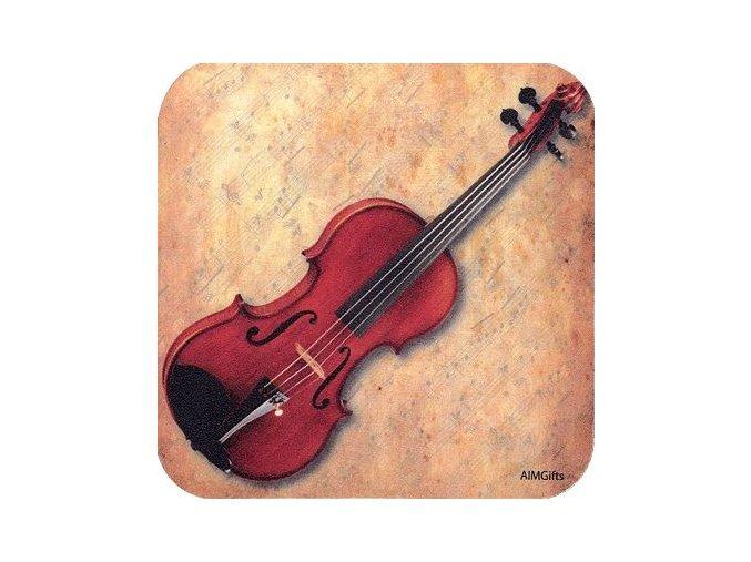 podtácek s houslemi podlozka pod hrnek muzikantovi