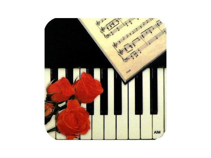 podložka pod hrnek klaviatura pro hudebníka muzikanta