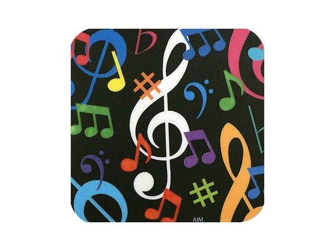 podložka pod hrnek hudebni motiv noty houslový klíč