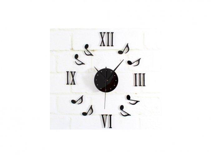 Nástěnné hodiny s notami