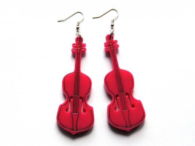 Náušnice cello - růžové