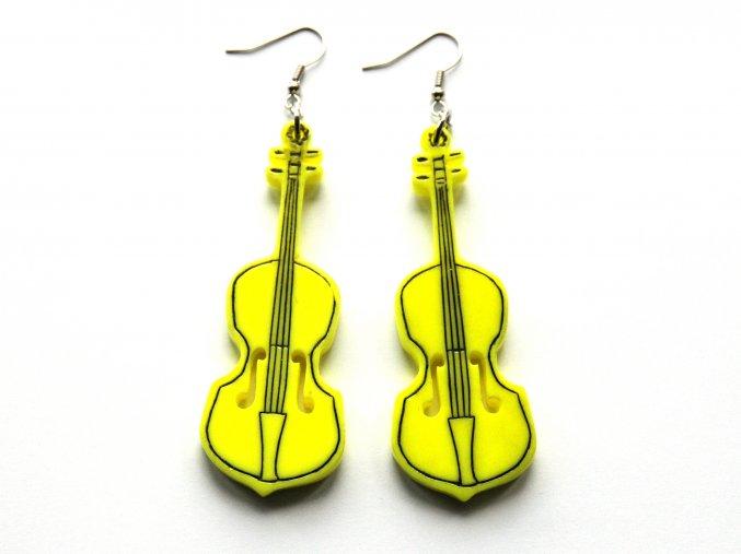Náušnice cello - žluté