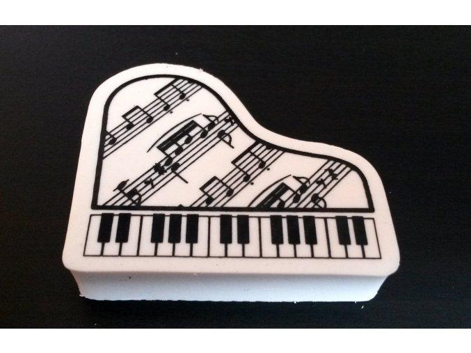 Guma - klavír s partiturou - bílá