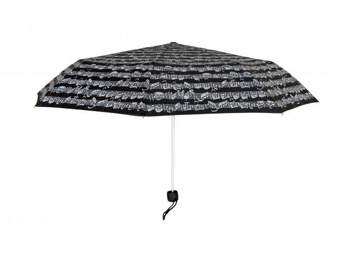 Deštník PARTITURA BACH černý, skládací