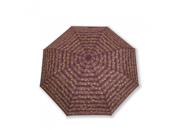 Deštník PARTITURA BACH bordó, dlouhý
