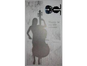 Záložka do knihy cello - stříbrná