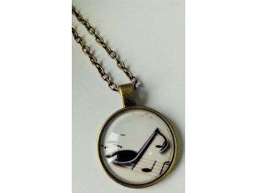 Vintage náhrdelník s osminovou notou