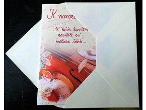 Přání k narozeninám do obálky s přáním