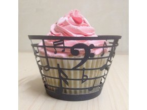 Cup Cake - ozdobný obal s notami