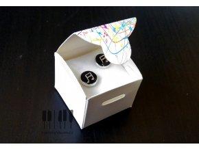 Dárková krabička s barevnými notami MAGICO - S