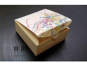 Dárková krabička s barevnými notami MAGICO - set