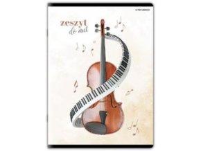 Notový sešit A4 klaviatura černobílý