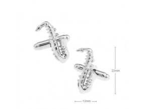 Manžetové knoflíčky - saxofon