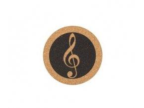podložka korková s houslovým klíčem