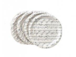 papírové talíře s partiturou