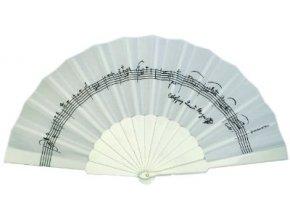 Vějíř s partiturou W.A.Mozart