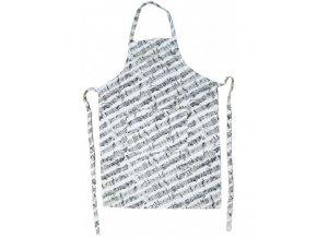 kuchyňská zástěra s partiturou