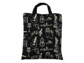 taška hudební nástroje černá