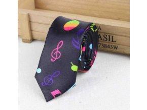 kravata s notami multicolor