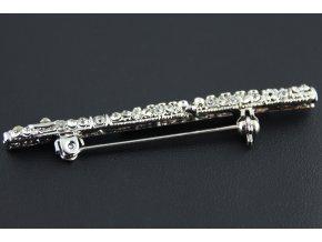 brož příčná flétna s kamínky 2