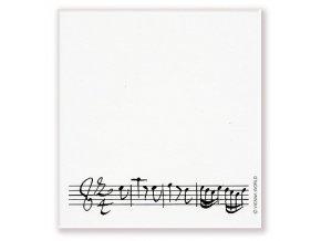 Lepící poznámkový bloček s partiturou