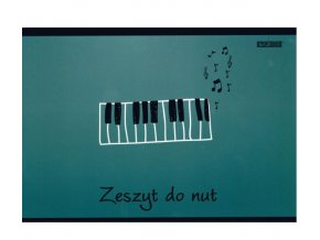 Notový sešit A5 klaviatura šedozelený