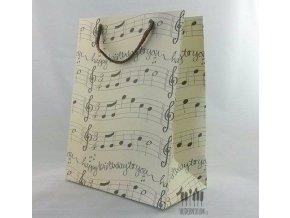 dárková hudební taška haappy birthday s notami