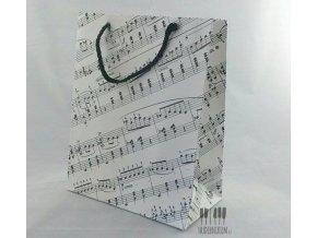 bílá taška s partiturou, noty, hudební
