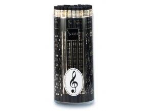 Tužka dřevěná s klaviaturou - černá