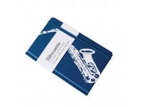 deníček silueta se saxofonem A6