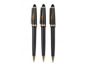 Kuličkové pero s houslovým klíčem černé