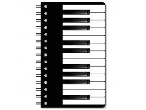 zápisník s klaviaturou