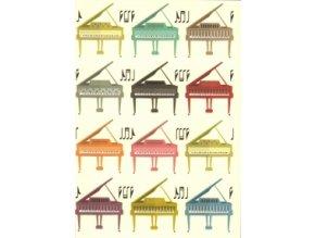 deníček veselé klavíry piano A6